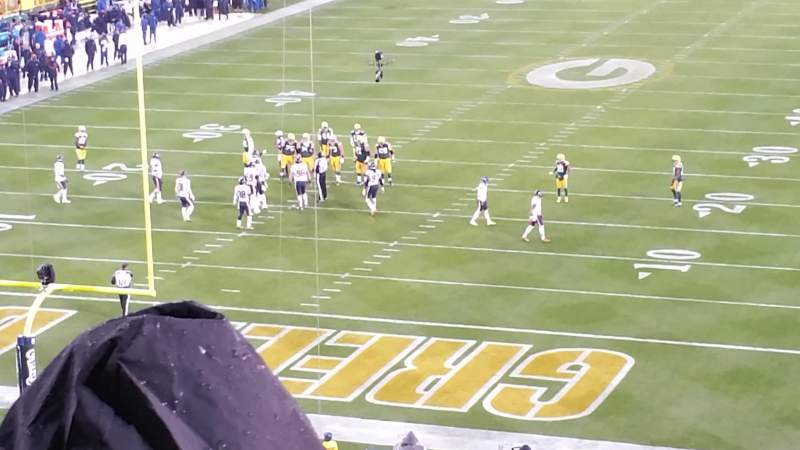 Seating view for Lambeau Field Section 104 Row 59 Seat 29