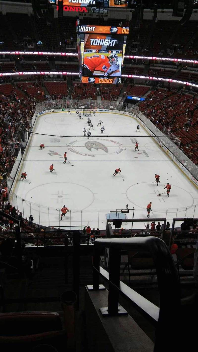 Seating view for Honda Center Section 444 or 401 Row F