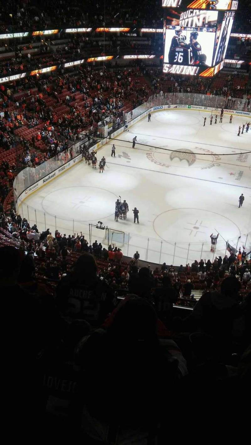 Seating view for Honda Center Section 441 Row J Seat 4-7