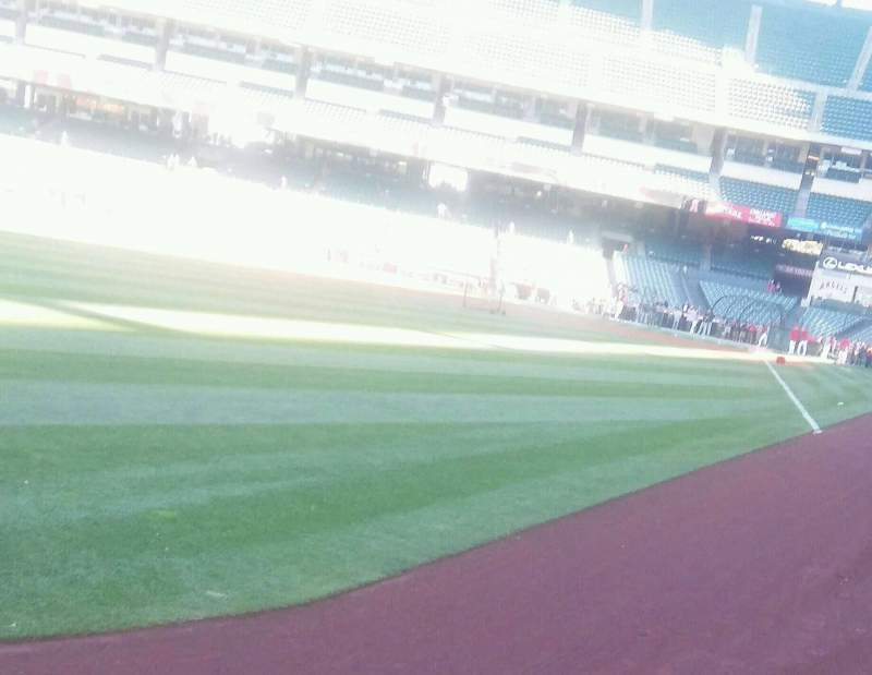 Seating view for Angel Stadium Section F102 Row A