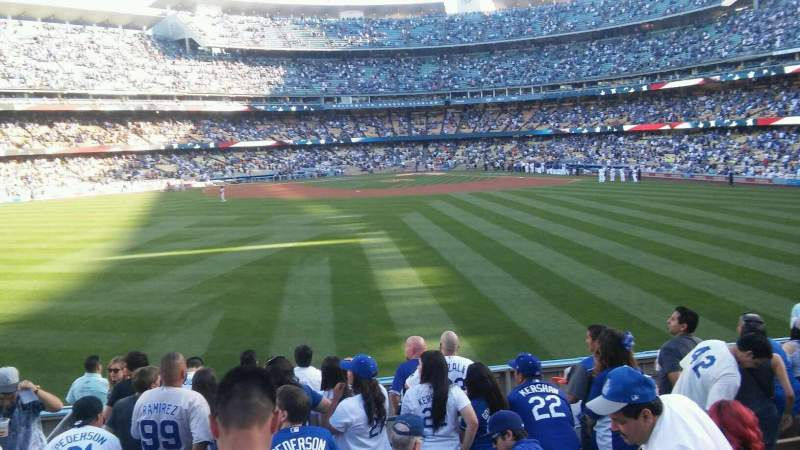 Seating view for Dodger Stadium Section 311/313