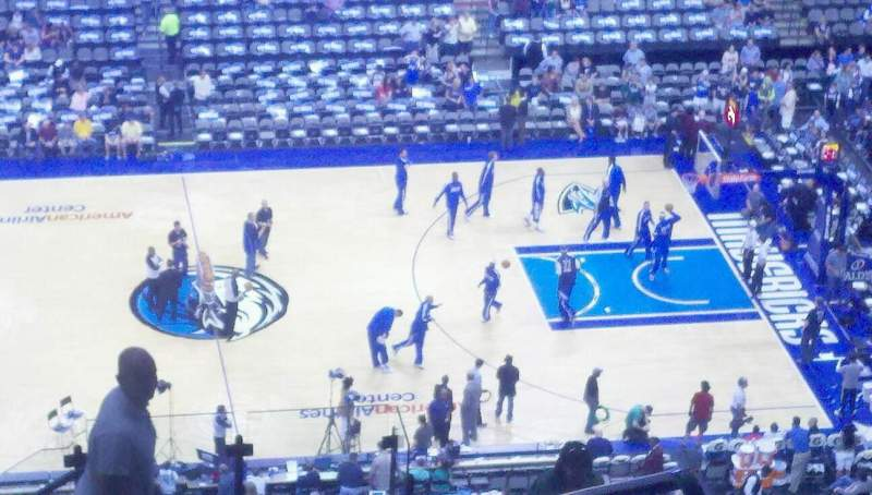 Seating view for American Airlines Center Section 325 Row S Seat 18