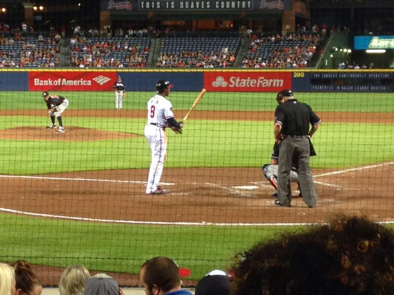 Seating view for Turner Field Section 102L Row 7 Seat 107