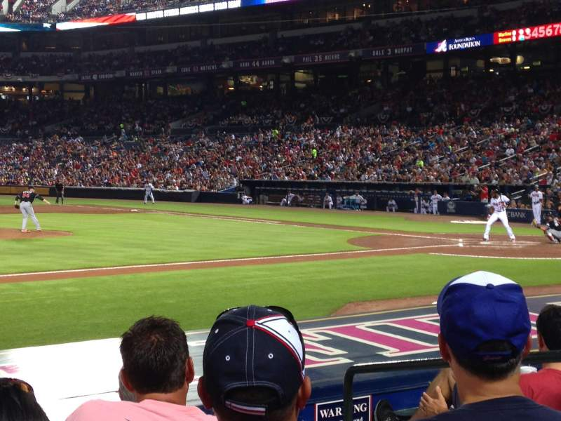 Seating view for Turner Field Section 112L Row 10 Seat 103