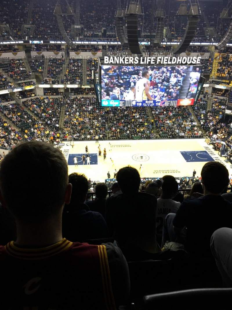 Seating view for Bankers Life Fieldhouse Section 209 Row 8 Seat 17