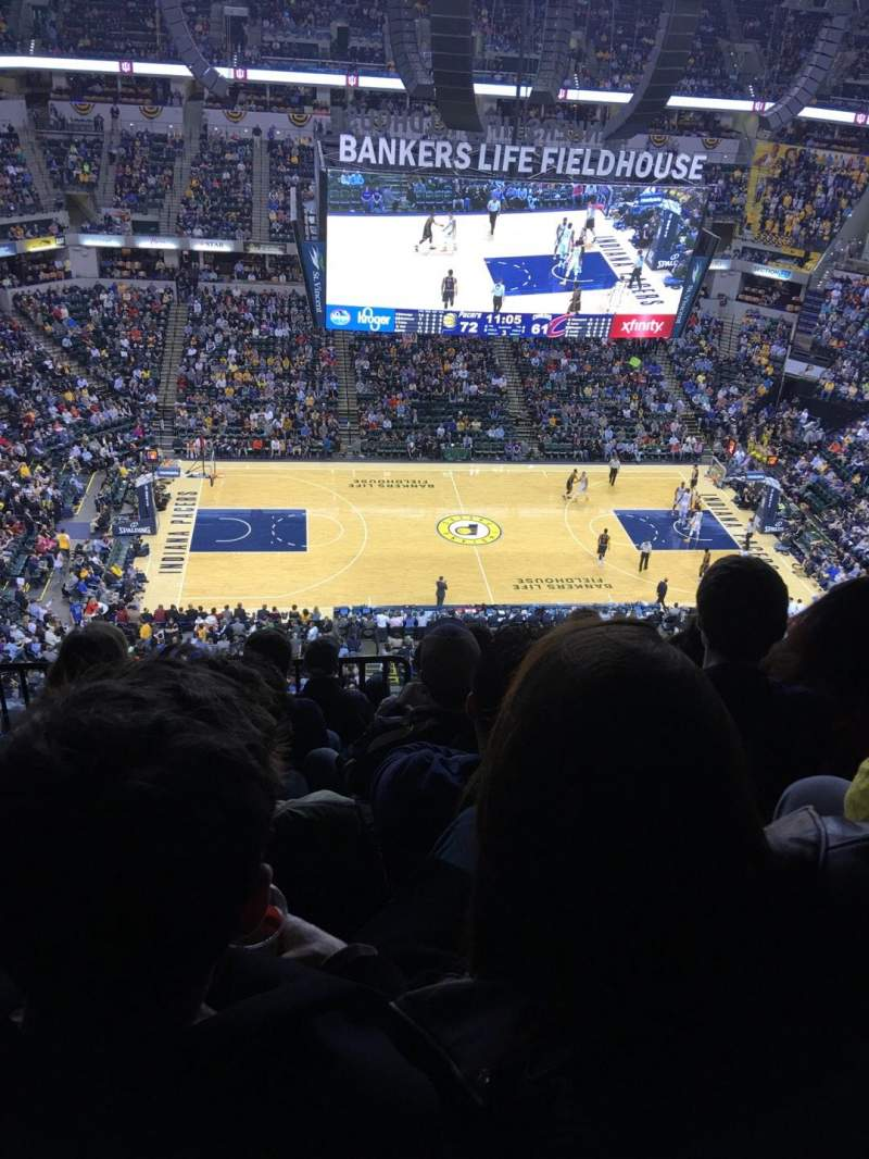 Seating view for Bankers Life Fieldhouse Section 209 Row 8 Seat 18