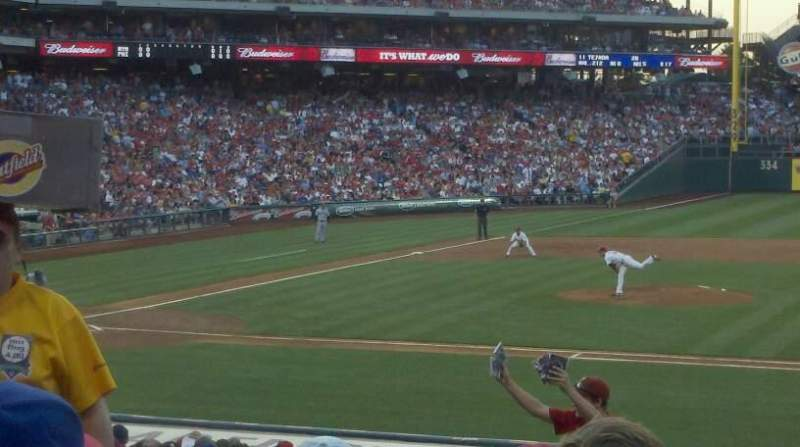 Seating view for Citizens Bank Park Section 116 Row 22 Seat 14
