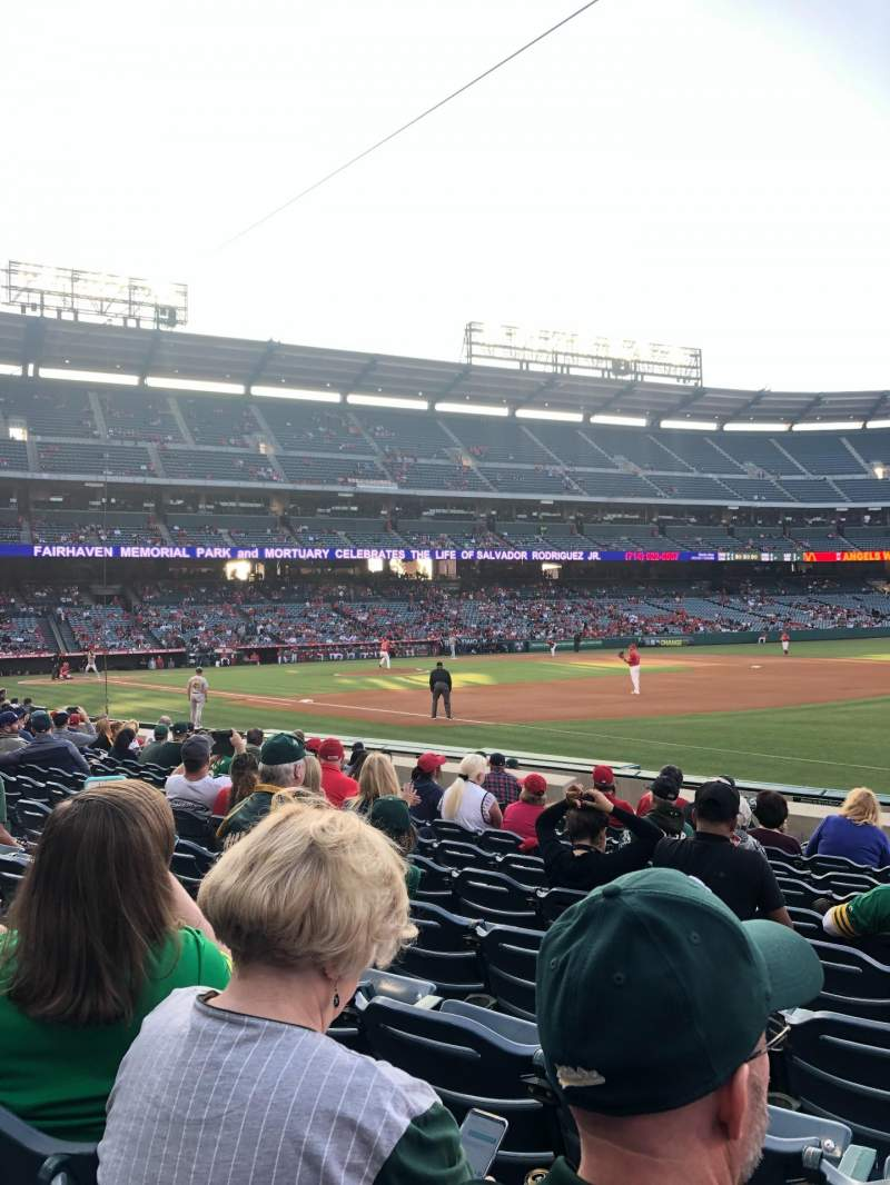 Seating view for Angel Stadium Section F128 Row K Seat 12