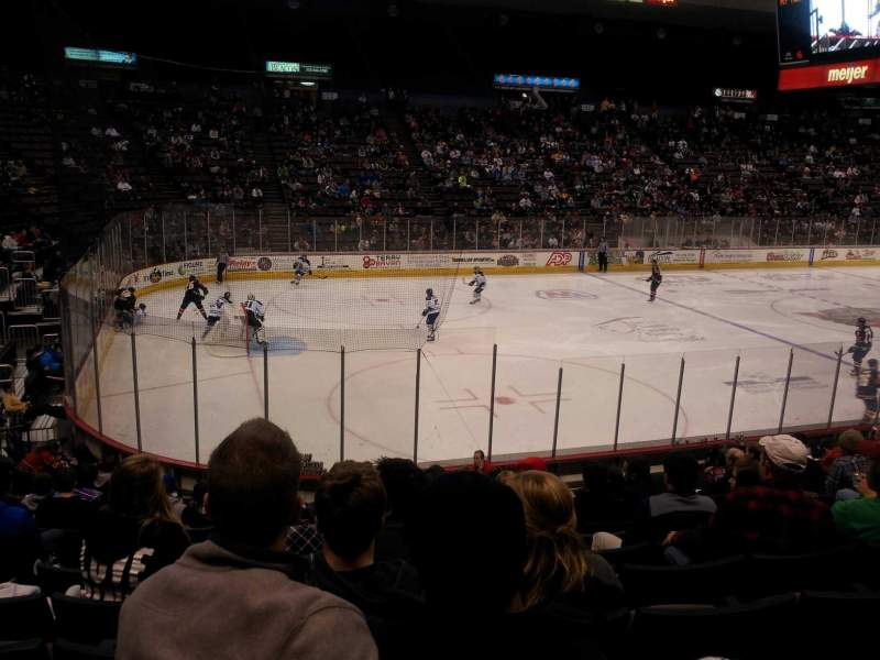 Seating view for US Bank Arena Section 105 Row P Seat 4