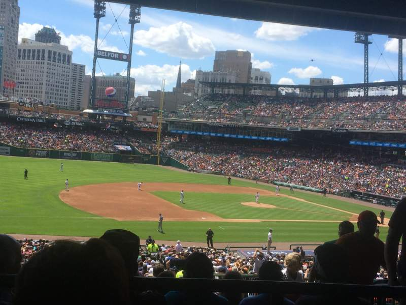 Seating view for Comerica Park Section 137 Row H Seat 4