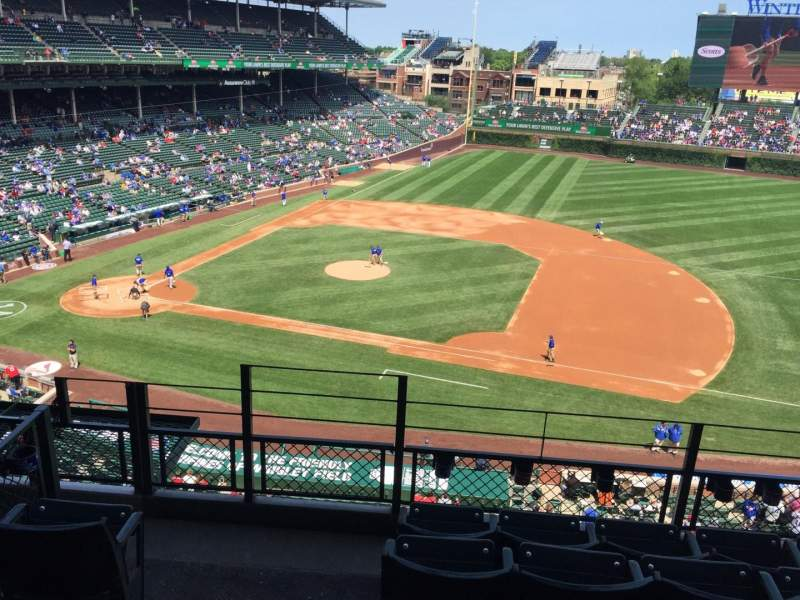 Seating view for Wrigley Field Section 430 Row 5 Seat 1