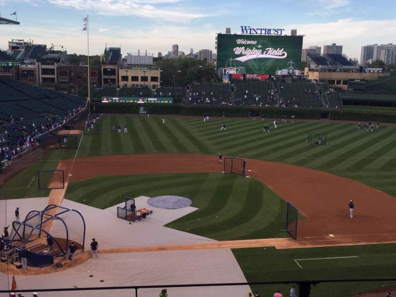 Seating view for Wrigley Field Section 322R Row 3 Seat 12