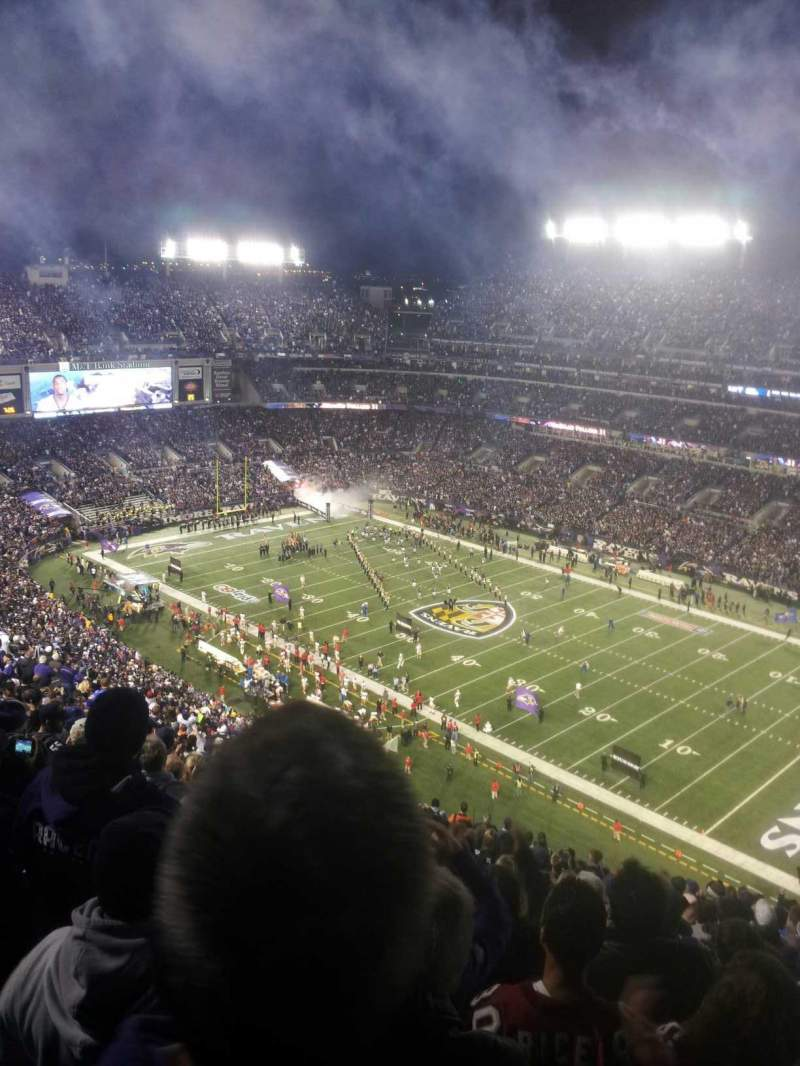 Seating view for M&T Bank Stadium Section 548 Row 23 Seat 5