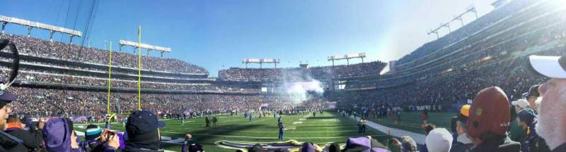 Seating view for M&T Bank Stadium Section 138 Row 5 Seat 15
