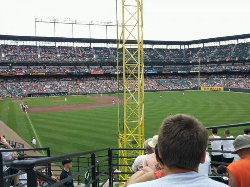 Seating view for Oriole Park at Camden Yards Section 1 Row 6 Seat 5