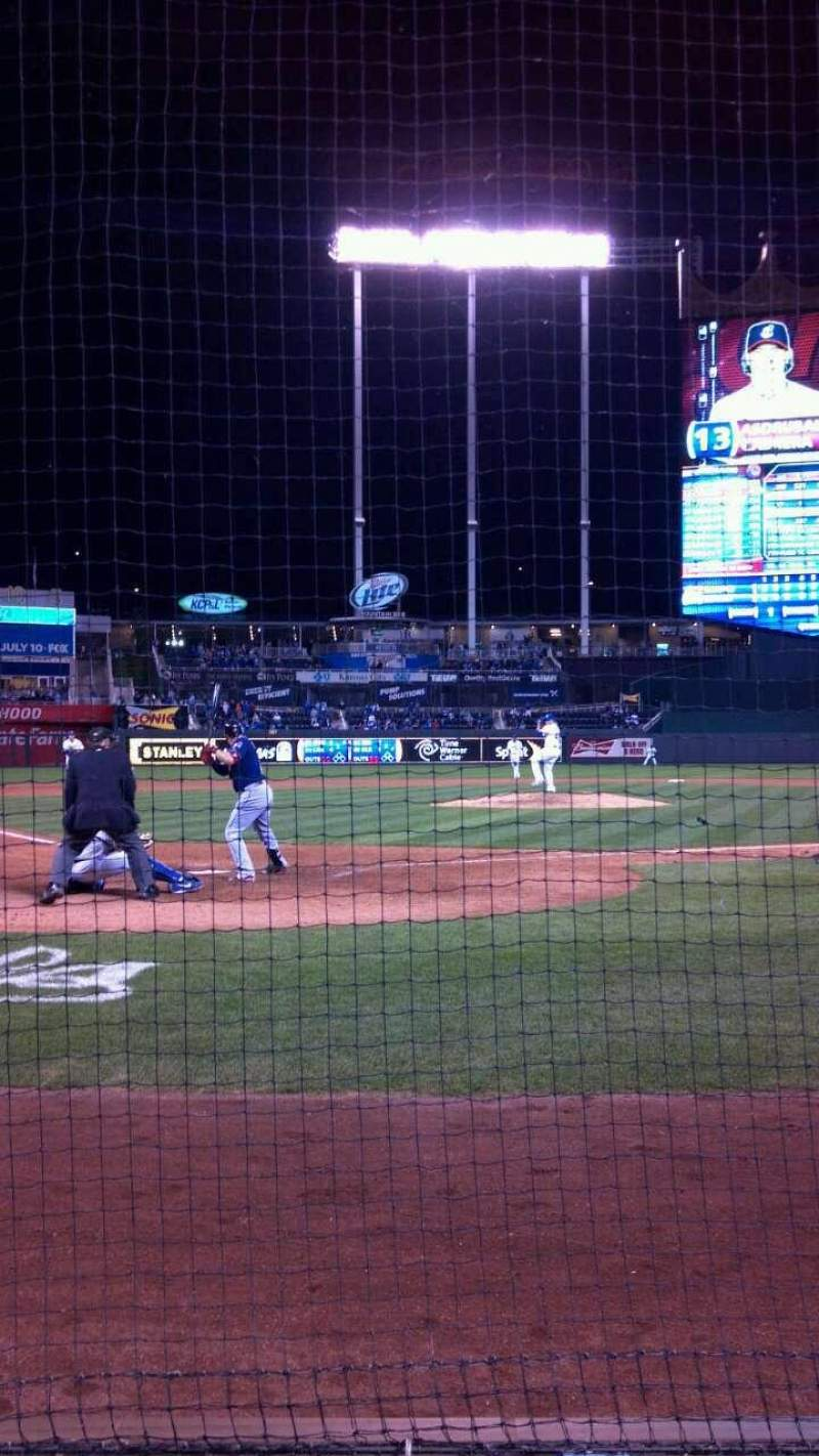 Seating view for Kauffman Stadium Section Crown 5 Row 3 Seat 2