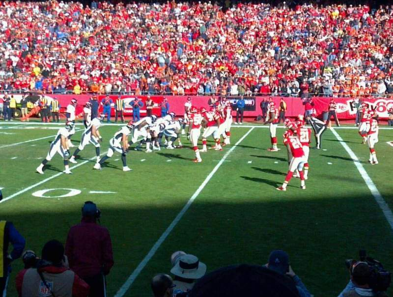 Seating view for Arrowhead Stadium Section 115 Row 5 Seat 2
