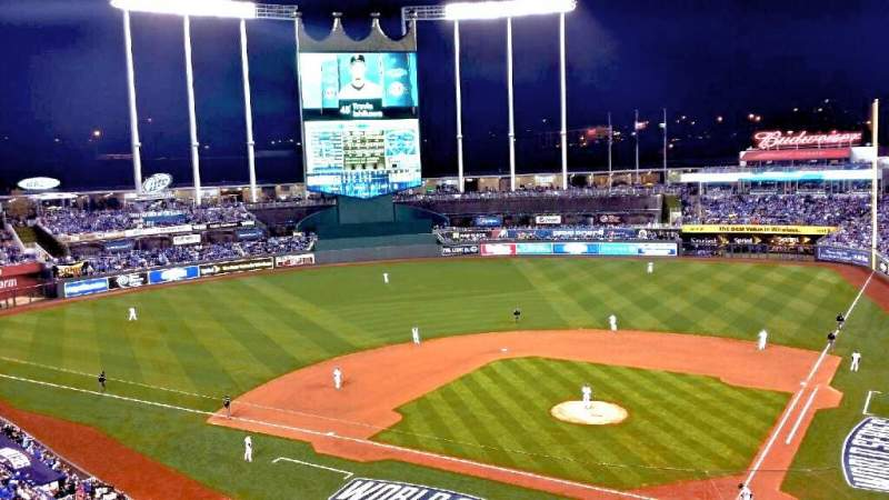 Seating view for Kauffman Stadium Section 416 Row A Seat 2