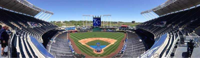 Seating view for Kauffman Stadium Section 421 Row A Seat 4