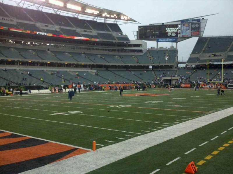 Seating view for Paul Brown Stadium Section 148 Row 1 Seat 6