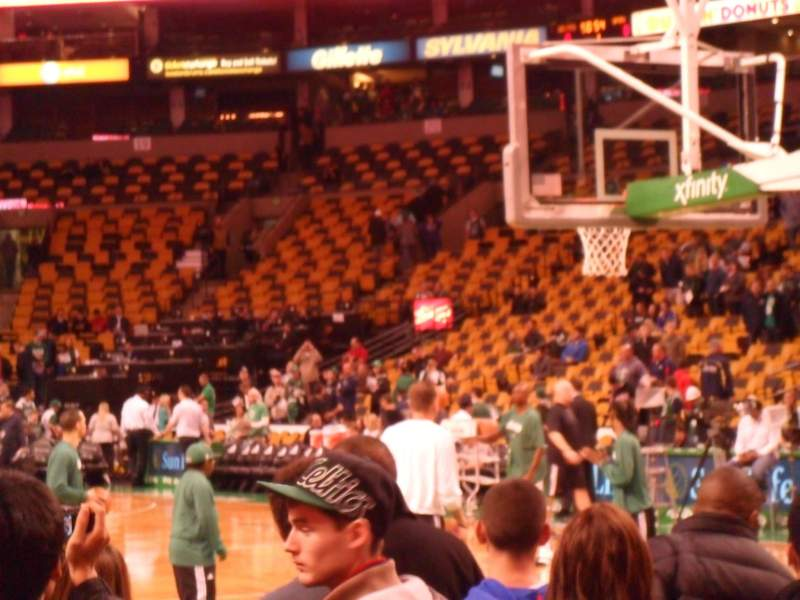 Seating view for TD Garden Section Loge 8 Row G Seat 5