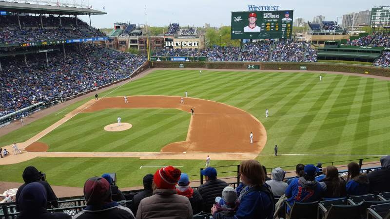 Seating view for Wrigley Field Section 324R Row 8 Seat 24