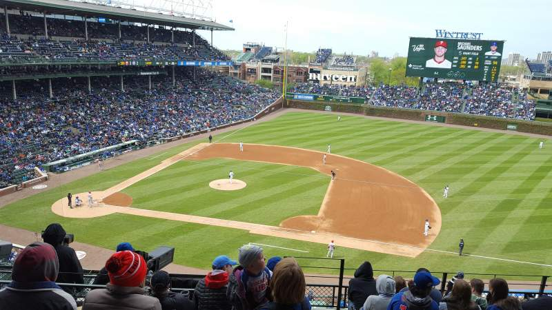 Seating view for Wrigley Field Section 430 Row 8 Seat 101