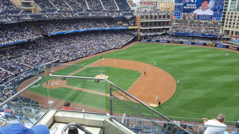Seating view for PETCO Park Section UR 315 Row 10 Seat 2
