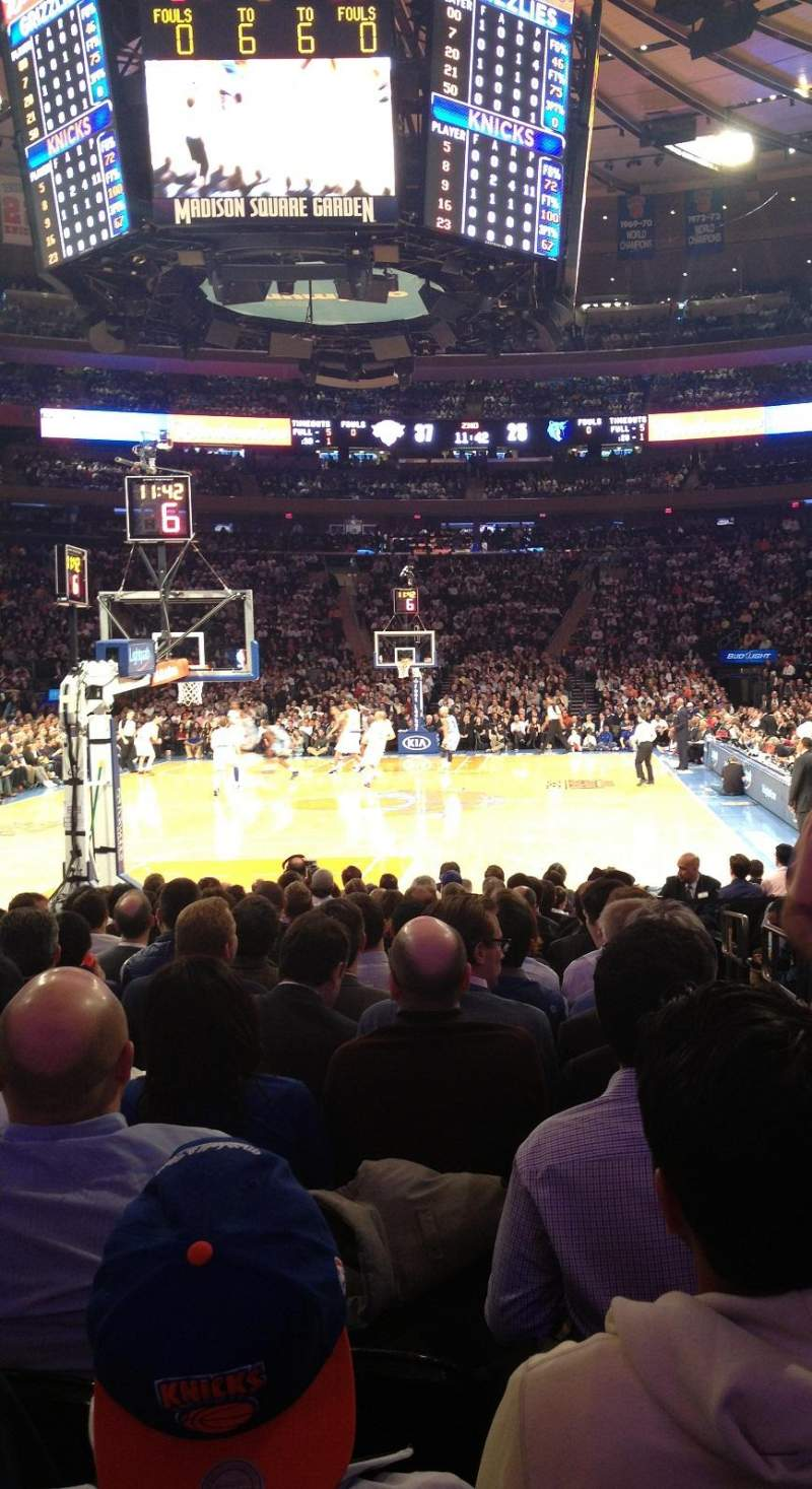 Seating view for Madison Square Garden Section 2 Row 15 Seat 20