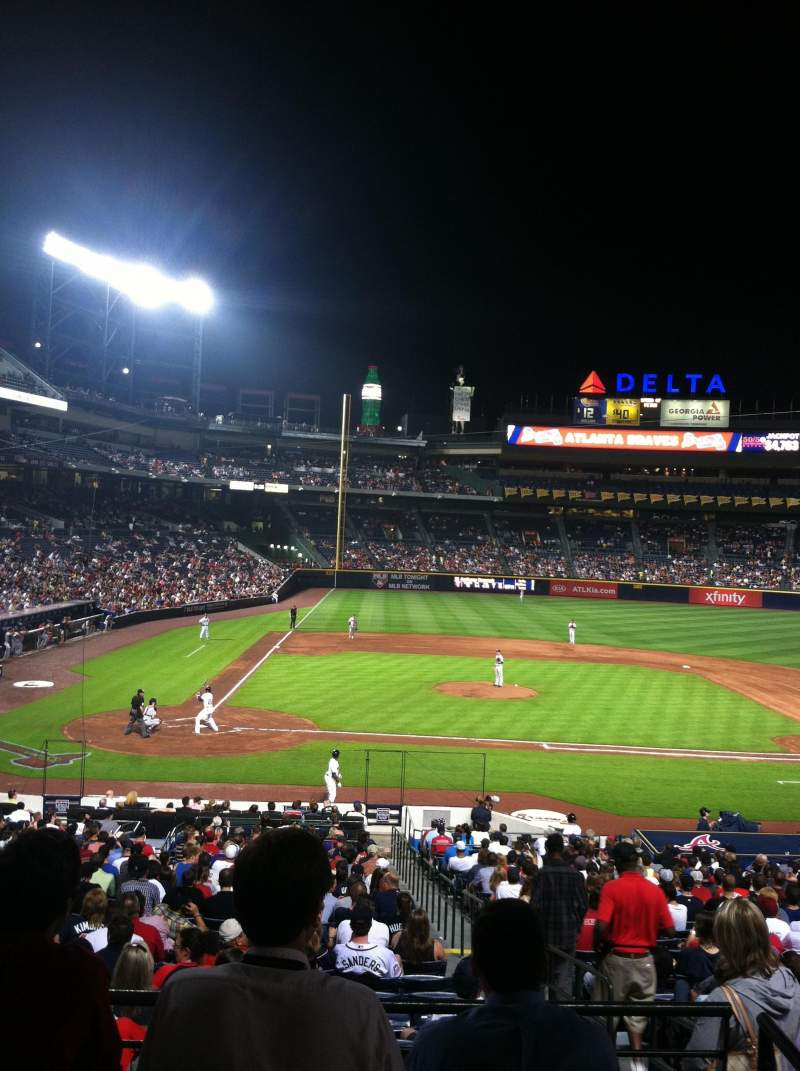 Seating view for Turner Field Section 207 Row 1 Seat 1
