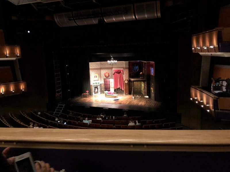 Seating view for Ahmanson Theatre Section Mezzanine Row B Seat 9