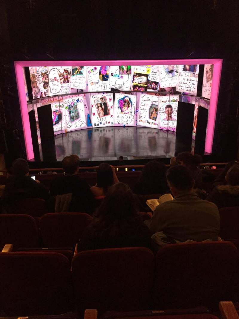 Seating view for August Wilson Theatre Section Mezzanine C Row F Seat 111