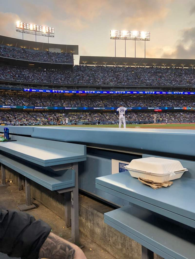 Seating view for Dodger Stadium Section 30BL Row 1 Seat 2