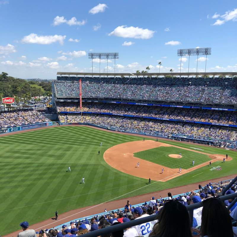 Seating view for Dodger Stadium Section 41RS Row CC Seat 8