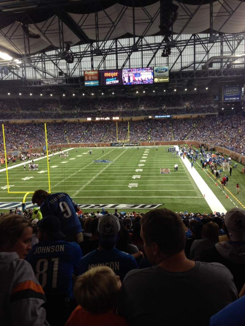 Seating view for Ford Field Section 139 Row 39 Seat 10