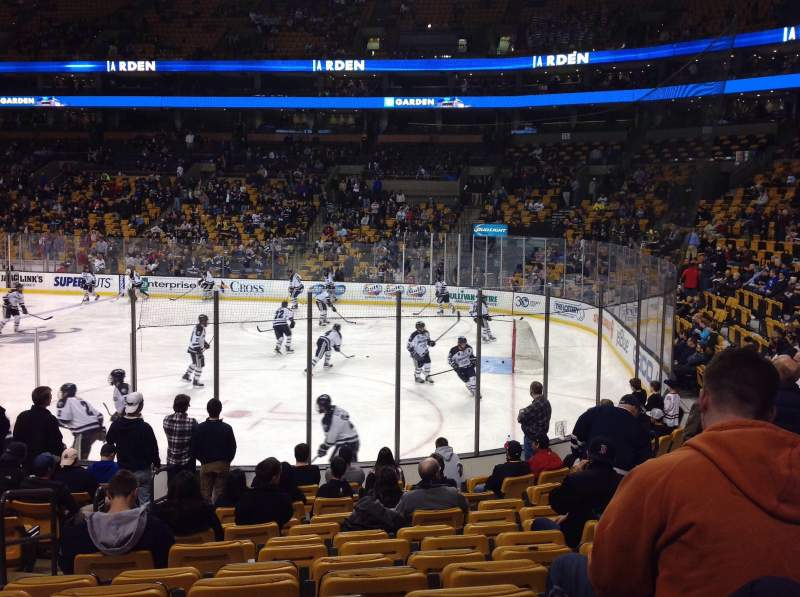 Seating view for TD Garden Section LOGE 20 Row 13 Seat 14