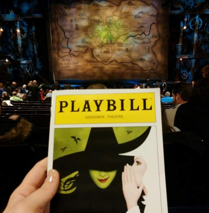 Seating view for Gershwin Theatre Section Orchestra C Row S Seat 107