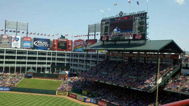Seating view for Globe Life Park in Arlington Section 334 Row 1