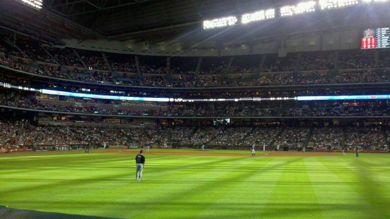 Seating view for Minute Maid Park Section 154 Row 1 Seat 5