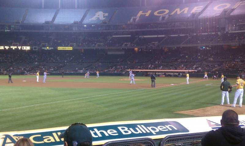Seating view for Oakland Coliseum Section 127 Row 6 Seat 7