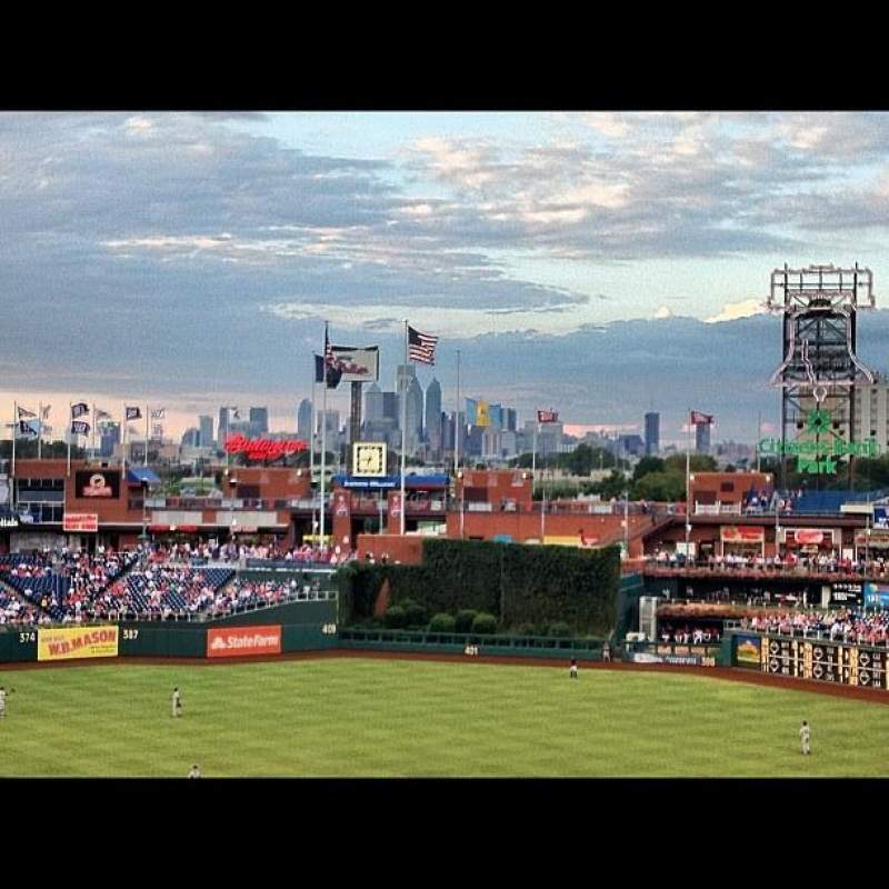 Seating view for Citizens Bank Park Section 219 Row 6 Seat 7