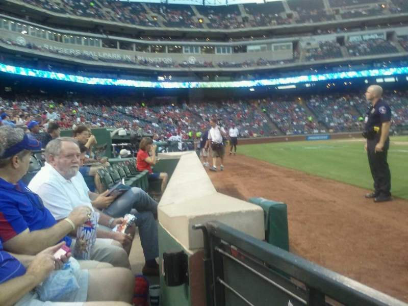Seating view for Globe Life Park in Arlington Section 37 Row 1 Seat 14
