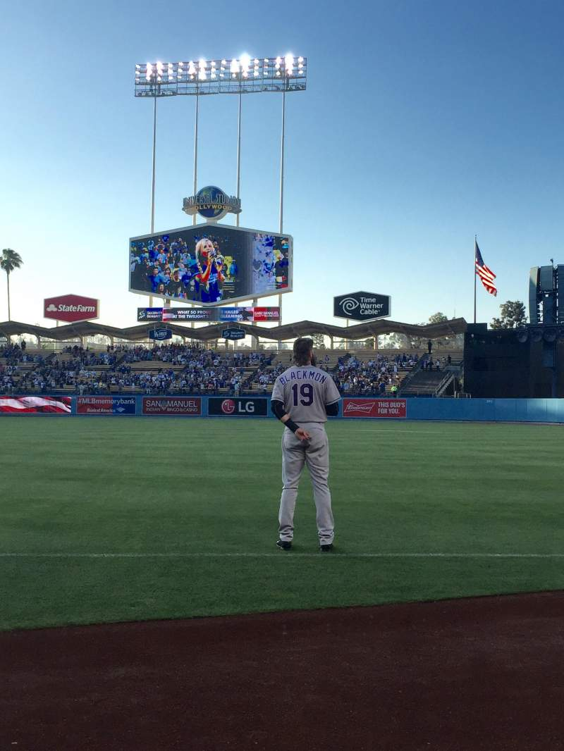 Seating view for Dodger Stadium Section 32BL Row 1 Seat 8