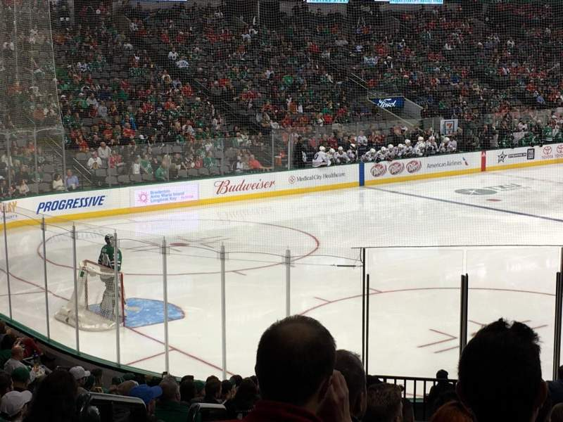 Seating view for American Airlines Center Section 110 Row V Seat 18