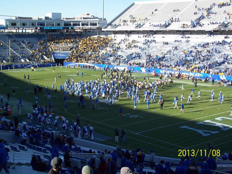 Seating view for Commonwealth Stadium Section 135 Row 49 Seat 14