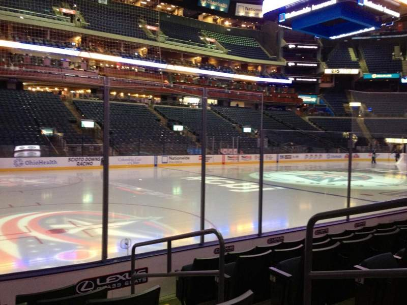 Seating view for Nationwide Arena Section 106 Row F Seat 3