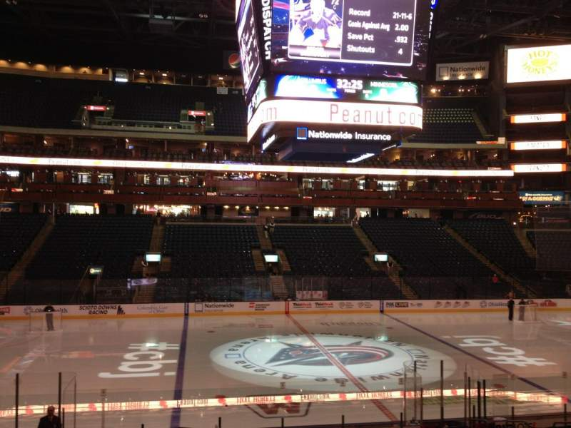 Seating view for Nationwide Arena Section 104 Row U Seat 7