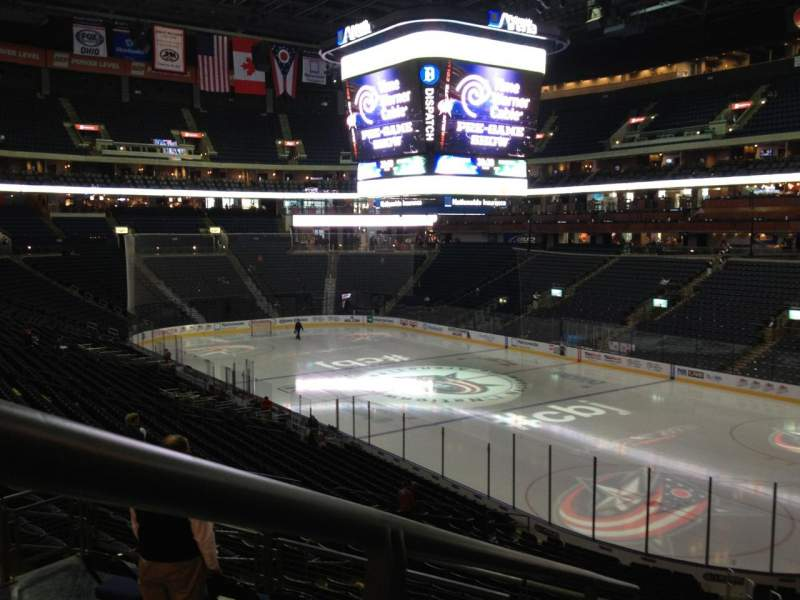 Seating view for Nationwide Arena Section 101 Row FF Seat 6