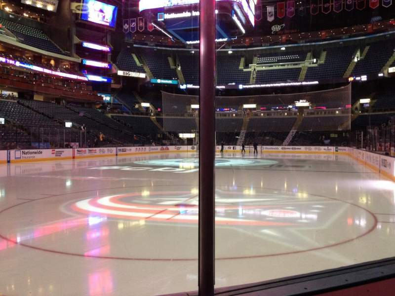 Seating view for Nationwide Arena Section 107 Row B Seat 8