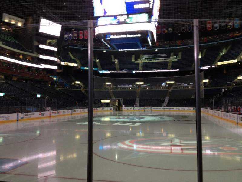 Seating view for Nationwide Arena Section 108 Row D